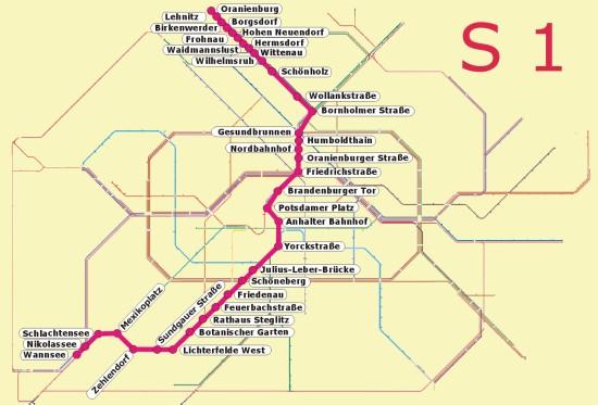 Berlin S1 öffentlicher Nahverkehr S Bahn