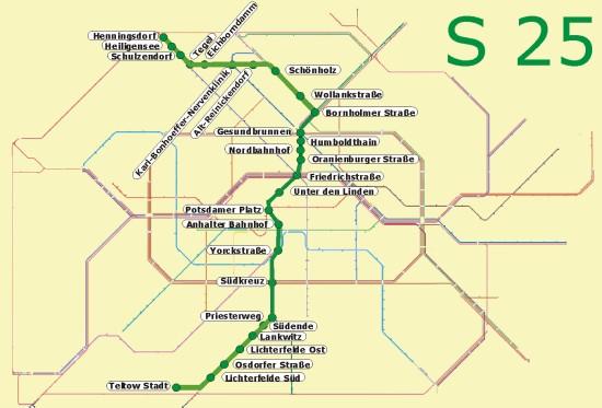 Berlin S25 öffentlicher Nahverkehr S Bahn