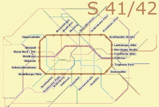 Berlin S41 42 Offentlicher Nahverkehr S Bahn