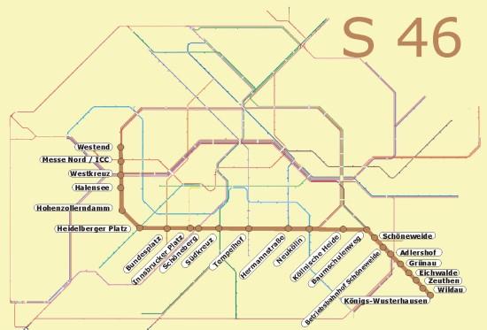 Berlin S46 öffentlicher Nahverkehr S Bahn
