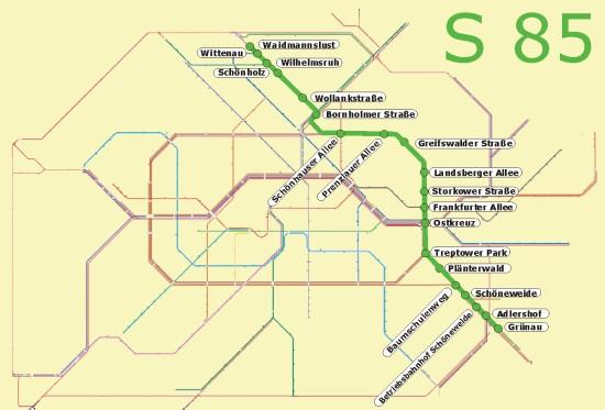Berlin S85 öffentlicher Nahverkehr S Bahn