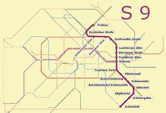 Berlin S9 öffentlicher Nahverkehr S Bahn