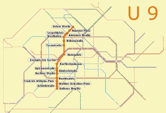Berlin U9 öffentlicher Nahverkehr U Bahn